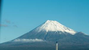 車窓から富士山は初めて