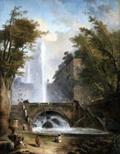 ユベール・ロベール作のサン・クルーの大噴水
