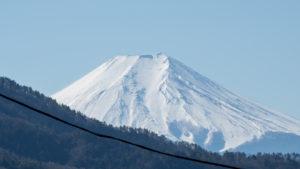 山梨県側からの富士山