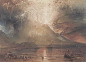 ターナーの手になるヴェスヴィオ火山の絵